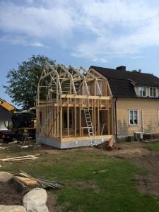 Litet hus ska bli stort, vackert och modernt.